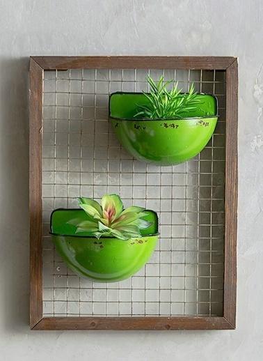 Warm Design Saksılık Duvar Dekoru Yeşil